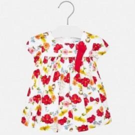 Sukienka w kwiaty dziewczęca Mayoral 1936-91 Czerwony