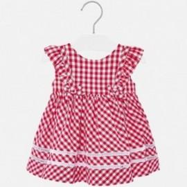 Sukienka w kratkę dla dziewczynki Mayoral 1938-56 Czerwony