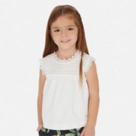 Koszulka z haftem dla dziewczynki Mayoral 3003-94 Biały