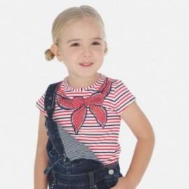 Koszulka w paski dziewczęca Mayoral 3005-35 Czerwony