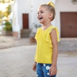 Koszulka z gazy dziewczęca Mayoral 3014-23 Żółty