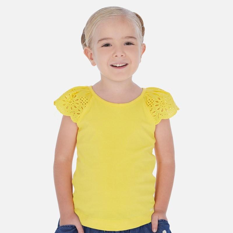 Koszulka na ramiączkach dziewczęca Mayoral 3023-79 Żółty