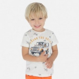 Koszulka z krótkim rękawem chłopięca Mayoral 3062-83 Śmietanka