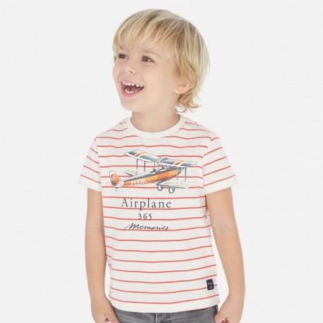 Koszulka w paski chłopięca Mayoral 3064-63 Pomarańcz