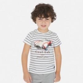 Koszulka w paski chłopięca Mayoral 3064-64 Biały