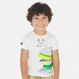 Koszulka z krótkim rękawem chłopięca Mayoral 3067-53 Biały
