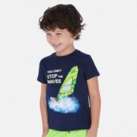 Koszulka z krótkim rękawem chłopięca Mayoral 3068-10 Granatowy