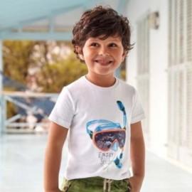 Koszulka z krótkim rękawem chłopięca Mayoral 3070-66 Biały