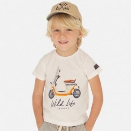 Koszulka z krótkim rękawem chłopięca Mayoral 3071-61 Biały