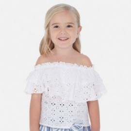Bluzka z falbanką dziewczynka Mayoral 3182-29 Biały