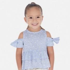 Bluzka z odkrytymi ramionami dziewczęca Mayoral 3184-34 Błękitny