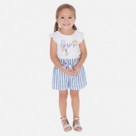 Krótkie spodenki w paski dla dziewczynki Mayoral 3278-37 niebieski