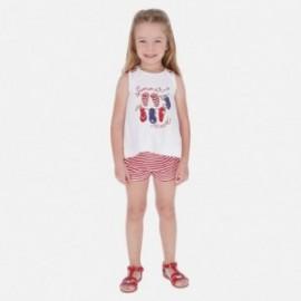 Bluzka na ramiączkach i szorty w paski dziewczynka Mayoral 3288-70 Czerwony