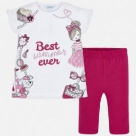 Komplet koszulka i rybaczki dla dziewczynki Mayoral 3546-67 truskawka