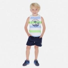 Komplet bawełna 2 koszulki i szorty dla chłopca Mayoral 3622-74 zielony