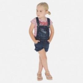 Ogrodniczki krótkie jeans dla dziewczynki Mayoral 3632-5 granat