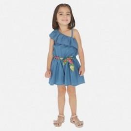 Kombinezon jeans dla dziewczynki Mayoral 3818-5 Niebieski