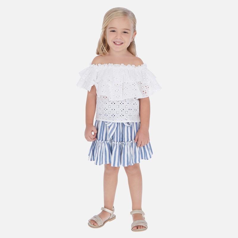Spódnica w paski dziewczęca Mayoral 3904-73 Niebieski