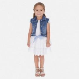 Spódnica haftowana dziewczęca Mayoral 3905-38 Biały