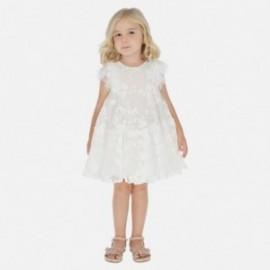 Sukienka tiulowa dla dziewczynki Mayoral 3921-15 Kremowy