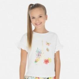 Koszulka z krótkim rękawem dziewczęca Mayoral 6013-27 Biały