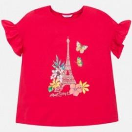 Koszulka z krótkim rękawem dziewczęca Mayoral 6013-28 Czerwony