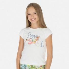 Koszulka sportowa dla dziewczynki Mayoral 6015-77 Biały