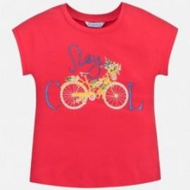 Koszulka sportowa dla dziewczynki Mayoral 6015-79 Czerwony