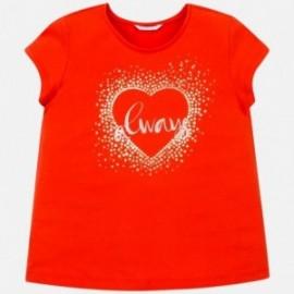 Koszulka z krótkim rękawem dziewczęca Mayoral 6017-67 Pomarańcz
