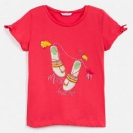 Koszulka z krótkim rękawem dziewczęca Mayoral 6018-28 Czerwony