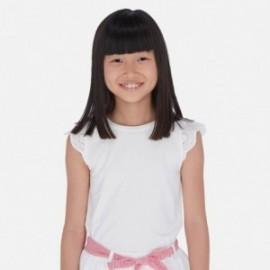 Koszulka z haftem dla dziewczynki Mayoral 6030-52 Biały