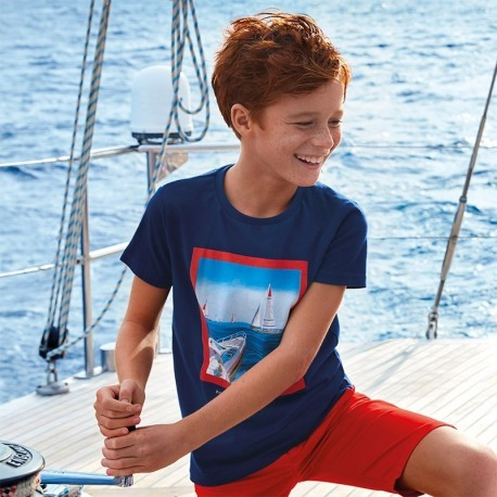 Koszulka sportowa chłopięca Mayoral 6055-65 Granatowy