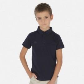 Koszulka polo dla chłopca Mayoral 6136-77 granat