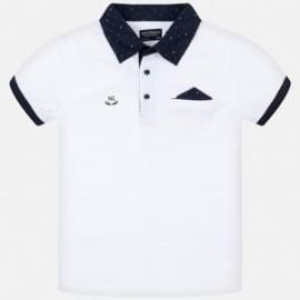 Koszulka polo dla chłopca Mayoral 6136-78 biały