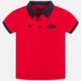 Koszulka polo dla chłopca Mayoral 6136-79 czerwony