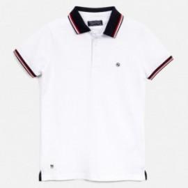 Koszulka polo dla chłopca Mayoral 6143-80 biały