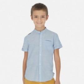 Koszula na stójce dla chłopca Mayoral 6148-23 Błękitny