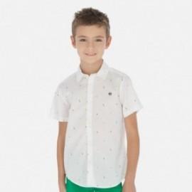 Koszula z krótkim rękawem chłopięca Mayoral 6152-53 Biały