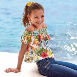 Bluzka z odkrytymi ramionami dziewczęca Mayoral 6164-10 Kolorowy