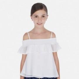 Bluzka z odkrytymi ramionami dziewczęca Mayoral 6164-11 Biały