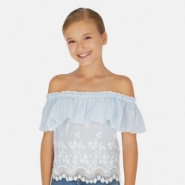 Bluzka z odkrytymi ramionami dziewczęca Mayoral 6165-42 Błękitny