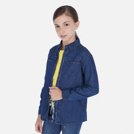 Bluzka jeansowa dziewczęca Mayoral 6170-86 Granatowy