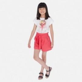 Krótkie spodenki dla dziewczyny Mayoral 6258-48 Czerwony