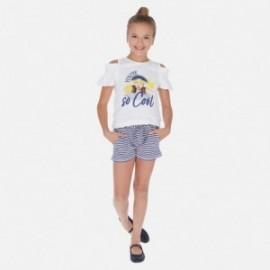 Komplet koszulka i szorty dziewczęcy Mayoral 6259-92 Granatowy