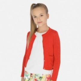 Sweterek rozpinany dziewczęcy Mayoral 6314-23 Pomarańcz