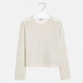 Sweterek rozpinany dziewczęcy Mayoral 6314-24 Kremowy
