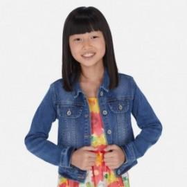 Kurtka jeans dla dziewczynki Mayoral 6461-43 Niebieski