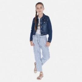 Spodnie w paski dziewczęce Mayoral 6534-19 Niebieski
