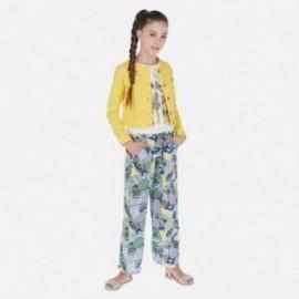 Spodnie we wzory dziewczęce Mayoral 6535-10 Niebieski