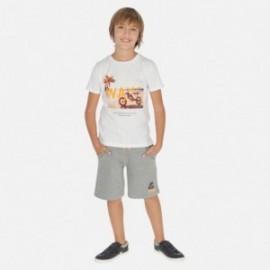 Komplet koszulka i bermudy chłopięcy Mayoral 6612-38 Szary
